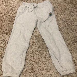 light grey sweatpants